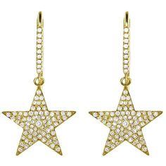 Jennifer Meyer Large Diamond Star Earrings - Yellow Gold ($7,500) ❤ liked on Polyvore featuring jewelry, earrings, gold, gold jewelry, 18k yellow gold earrings, handcrafted earrings, handcrafted jewelry and handcrafted jewellery