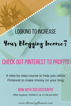 Want to increase your blog traffic & income with Pinterest? Get $50 off Pinterest To Profits awesome course!