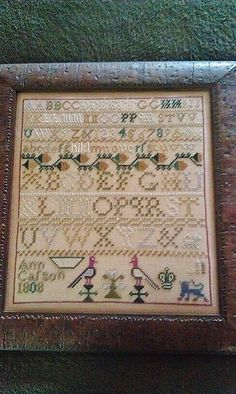 Ann Casson sampler. An R  R reproduction chart.