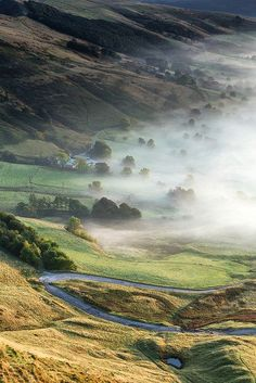 Valley Mist, Hope Valley, Peak District, England, UK, Travel via Ben Rogers