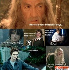 Frodo vs  Harry Potter vs  Luke Skywalker vs  Edward