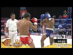 Kun Khmer Vs Muay Thai, Kong Sambo (Khmer) Vs Cheknoun Denggym (Thai) 07...