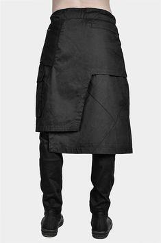 Rare Clothing, Man Skirt, Islamic Clothing, Asymmetrical Skirt, Gothic Outfits, Jacket Pattern, Mode Style, Skirt Fashion, Unisex