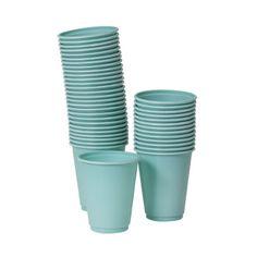 50 engangs krus House Doctor, Shops, Plastic, Tableware, Dishes, Blue, Deko, Tents, Dinnerware