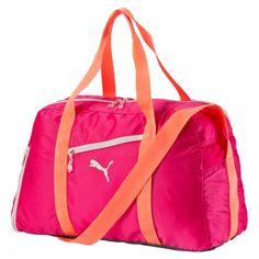 modeherz ♥ PUMA Fit AT Sports Duffle Rose Red-Fluro Peach-Pink ♥ 073804 02 #modeherz #Sport #PUMA #Sporttasche