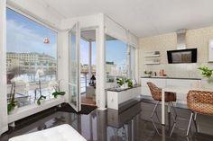 Diseño de Interiores & Arquitectura: Diseño Escandinavo: Brillante Apartamento de Dos Dormitorios en Estocolmo