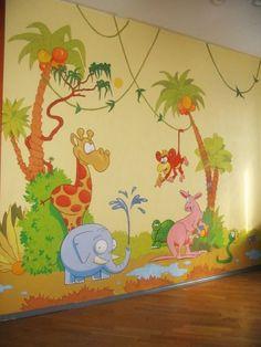 tierwelt im kinderzimmer wandgestaltung ideen | kinderzimmer ... - Wandgestaltung Im Babyzimmer Ideen Interieur Bilder