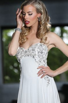 Simone Carvalli bridal gown style 90230 #strapless #sweetheartneckline #empirewaist