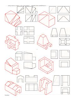 losmuertosdeldiedrico: PERSPECTIVA ISOMÉTRICA-croquis Drawing Lessons, Drawing Techniques, Basic Sketching, Technical Drawing, 3d Drawings, Drawing Sketches, Isometric Drawing Exercises, Orthographic Drawing, Architecture Drawing Sketchbooks