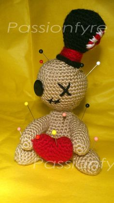 Amigurumi Voodoo Doll Pin Cushion by =passionfyre on deviantART