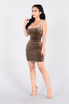 Keep You Close Dress - Mocha