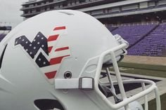 Celebrate Veterans Day 2017 with West Virginia Mountaineers full size and mini helmets featuring custom Patriotic WV helmets in America flag colors Red, White, Flag Colors, Veterans Day, West Virginia, Football Helmets, Sports, Products, Hs Sports, Sport, Exercise