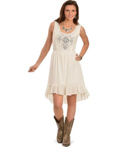 087fad6e936 Wrangler Women's Vanilla Ice Embroidered Sleeveless Dress Wrangler Dresses,  Indie Outfits, Retro Dress,