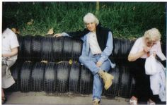 ME ON SOME TYRES (RECYCLED)-EDEN PROJECT,Cornwall