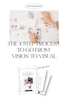The steps to take to create a compelling visual brand and the mistakes you have been making. Pdf workbook to learn: The top 3 mistakes most people make when working on their brand visuals and The 4 Step process to take your brand from vision to visuals. #branding