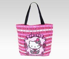 Hello Kitty Canvas Tote Bag: Pink Princess