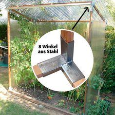 Winkel-Set, 8 Stück, aus rostfreiem Stahl - Gewächshaus-Zubehör
