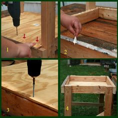 Building a wedging table.