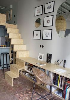 Amazing Loft Stair for Tiny House Ideas (22)