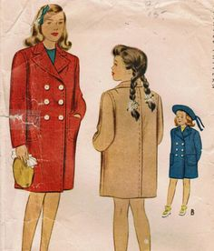 1940s McCall 5348 Vintage Sewing Pattern Girls by midvalecottage