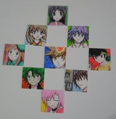 Anime Inchies - inch art!  great idea for anime artists  maybe have black and white print-outs or just basic faces that can be turned into various people with hair/eyes for those who aren't artsy. :)