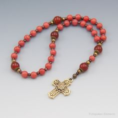Easter is a time to reflect and rejoice, for He has Risen. Prayer Beads by Unspoken Elements.
