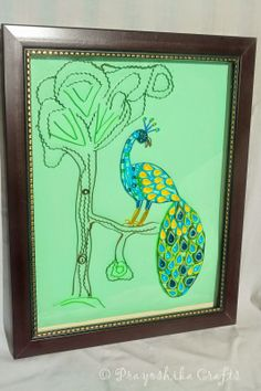 Prayoshika Crafts: Hand made Colorful Wall Art with front glass cover...