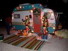 Scotty Camper all decked out for Christmas