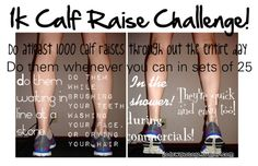 juststaym0tivated:  20down40togo:  1k Calf Raise Challenge! These are so easy to do! I'm a lifeguard and i do them when i have to stand! I get 25 done in like a minute!  Might try this tomorrow on my leg day