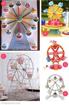 Cute Ferris Wheel Cupcake Ideas