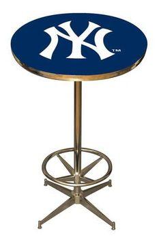 New York Yankees NY Kitchen Pub Table Furniture