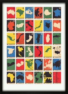 Atlas Maps Countries and Continents A to Z / 67 inc