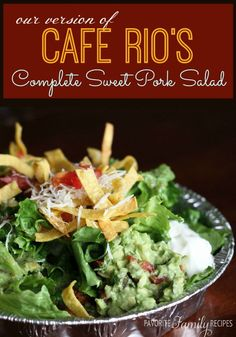 If you love the Cafe Rio Sweet Pork Salad, try it at home! This recipe is easier than it looks. It tastes just like you ordered it from Cafe Rio.