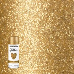 Cover your walls with creativity and beauty just by applying this extra ordinary Rust-Oleum Specialty Gold Glitter Spray Paint. Easy to keep clean. Glitter Paint Craft, Gold Glitter Spray Paint, Rust Oleum Glitter, Glitter Paint For Walls, Gold Paint, Silver Glitter, Craft Paint, Best Gold Spray Paint, Glitter Vases