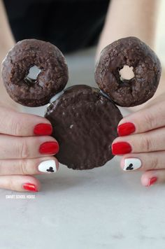 Mickey mouse Ding Dong Donuts by Smart School House   Mickey Mouse dessert Ideas that are so cute!