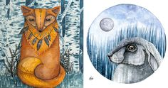 I am Norvile Dovidonyte, an artist from Lithuania. I work primarily with watercolors and ink. I can't imagine my day without a cup of coffee and strange, beautiful things, which inspire me to create playful characters.