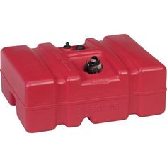 Moeller Low Perm Certified Fuel Tank 12 Gallon with 1/4 inch Fuel Pick-Up Adapter and Mechanical Direct Sight Gauge, Red