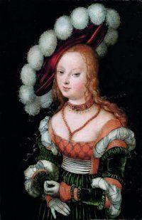 """""""Portrait idéalisé de jeune femme"""" 1530 par Lucas Cranach L'Ancien, Collection privée © Courtesy Galerie De Jonckheere, Paris    lundi 8 octobre"""