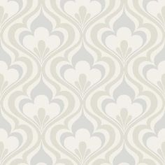 Beacon House 56 sq. ft. Lola Grey Ogee Bargello Wallpaper-2535-20600 - The Home Depot