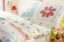 3 Pieces bedding set, colored summer flowers print for kids. Cotton Sheets, Kids Prints, Egyptian Cotton, Summer Flowers, Flower Prints, 3 Piece, Comforters, Bedding, Gift Wrapping