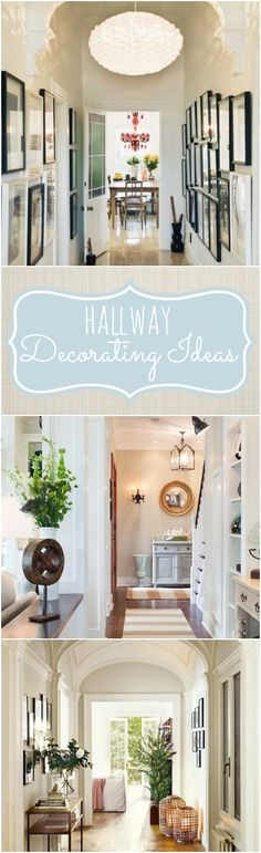 Hallway decorating ideas and tips for decorating a long narrow hallway.