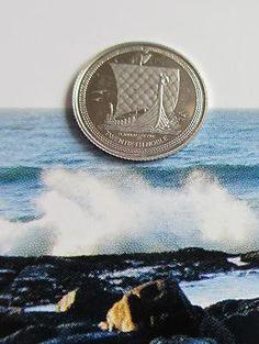 Vintage 1990 1/20 oz Isle of Man Noble Viking Ship Fine .9995 Platinum Coin