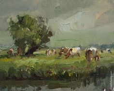 LSP14-2016-Painting-Roos-Schuring-Rainy-Day-Willows-and-Brown-Cows