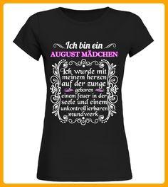 ICH BIN EIN AUGUST MDCHEN - Shirts für frau (*Partner-Link)
