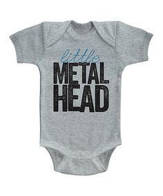 Gray Heather 'Metal Head' Bodysuit - Infant