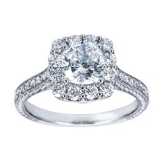 What is a cushion cut engagement rings?:Engagement rings are very popular so they don't need any kind of introduction. We all know that when two people get engaged then they share a ring which is know Cushion Cut Engagement Ring, Halo Engagement Rings, Designer Engagement Rings, Engagement Ring Settings, Cushion Cut Diamonds, Cushion Diamond, Or Rose, Rose Gold, Gabriel