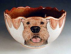 mudville pottery | Hand Painted Pottery by Nan Hamilton, Airedale Dog Art in Boston MA
