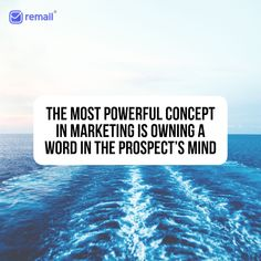 """The Law of Marketing (Law of Focus) The most powerful concept in marketing is owning a word in the prospect's mind. Owning in this context means that if people hear or see this word they usually connect it with a company that """"owns"""" this word. Cold Email, Most Powerful, Email Marketing, Connect, Law, Mindfulness, Words, Tips, People"""