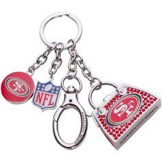 Anastasio Moda Washington Redskins Swarovski Crystal Bag Charm Keychain