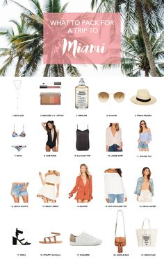 Miami is a lively beach city, but also a fancy type of destination, so in anticipation for my trip, I've already shortlisted some key items to pack when going to Miami.